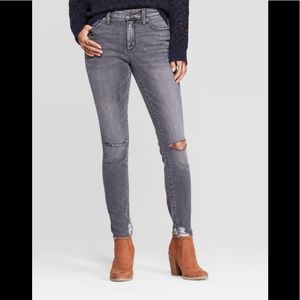 Universal Thread High Rise Skinny Distressed Jeans